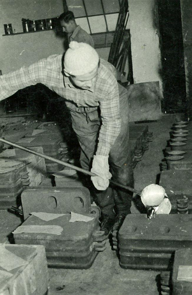 Gießerei um 1960
