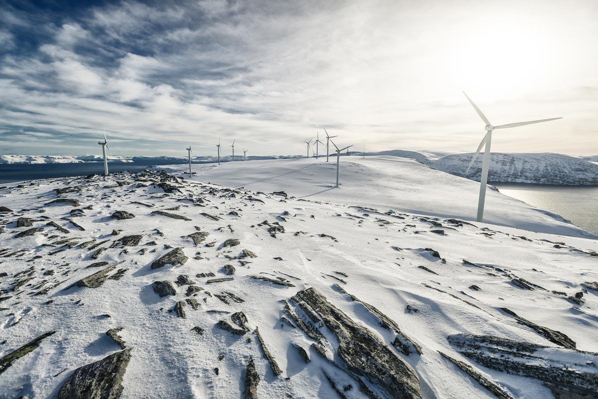 Windenergie Norwegen Aluproduktion